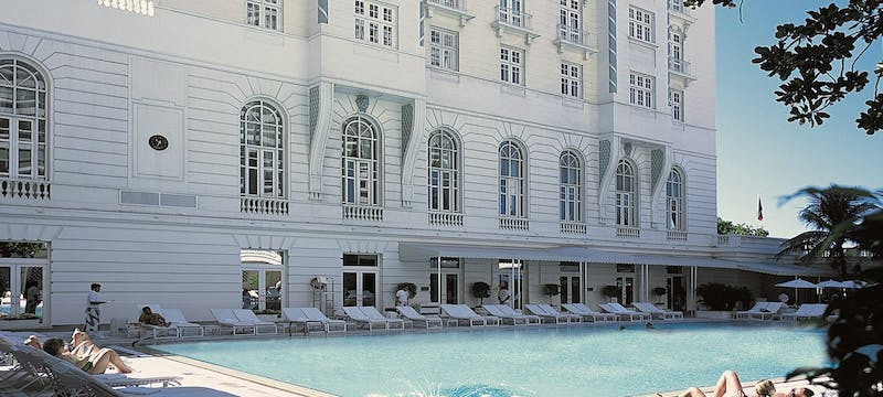 Pool area at Belmond Copacabana Palace, Brazil