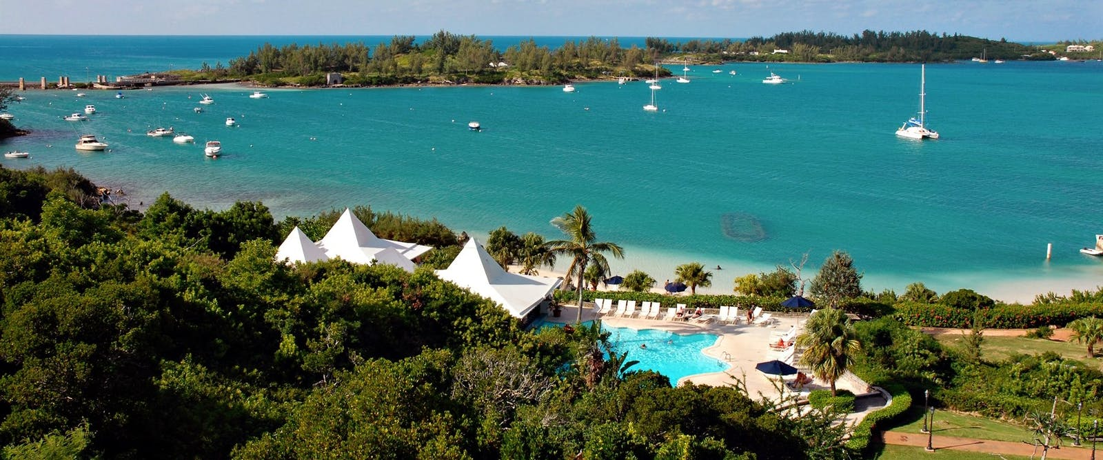 View From the Rooms at Grotto Bay, Bermuda