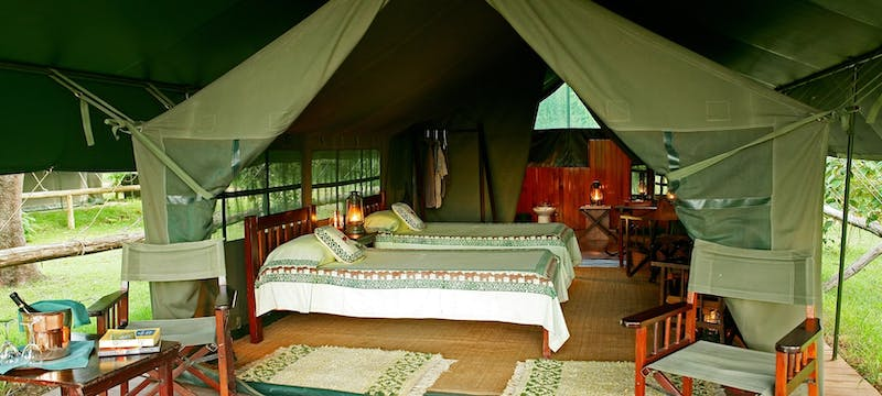 Bedroom tent at Little Governors' Camp