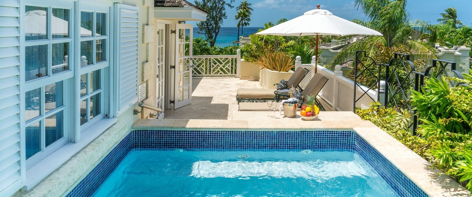 Luxury Plantation Suite Plunge Pool at Coral Reef Club, Barbados