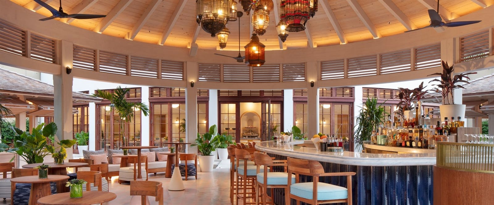 Outdoor Bar at Rosewood Baha Mar, Bahamas, Caribbean
