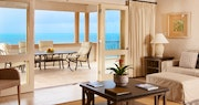 Penthouse lounge featuring unparalleled views of the turquoise sea at The Cove Suites At Blue Waters, Antigua