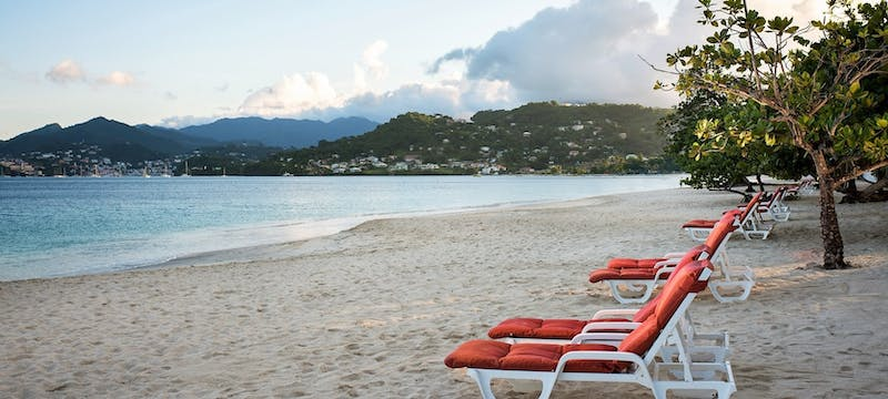 The beach at Coyaba Beach Resort, Grenada