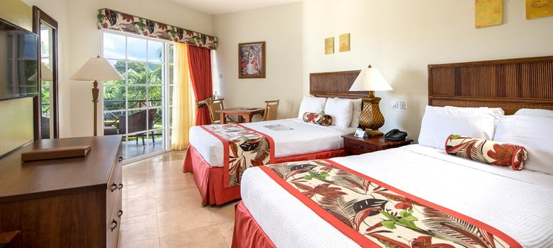 Twin room accommodation at Coyaba Beach Resort, Grenada