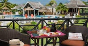 Outdoor dining at Coyaba Beach Resort, Grenada