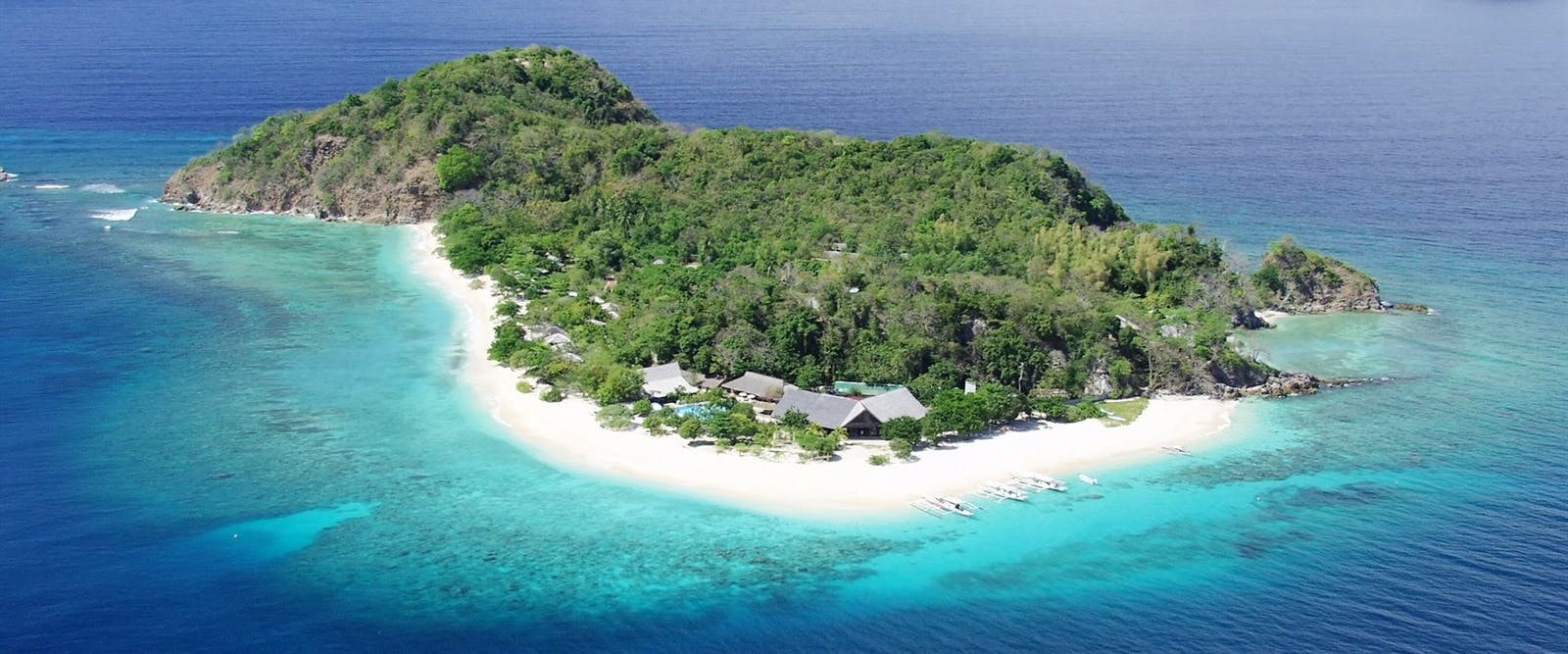 Aerial view at Club Paradise Coron, Palawan