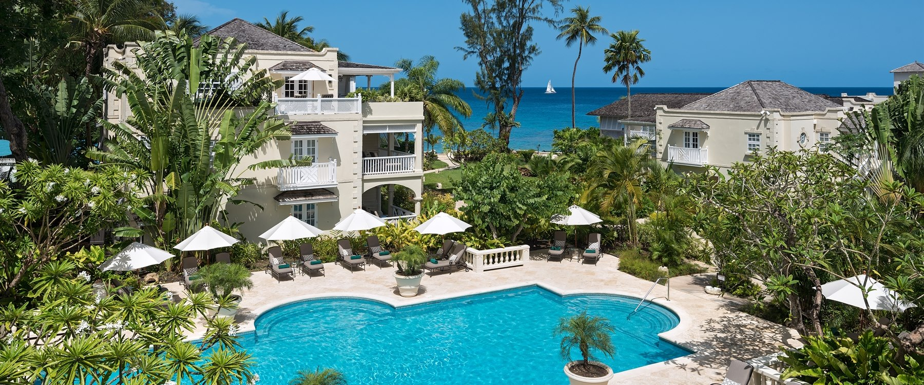 pool area at coral reef club barbados
