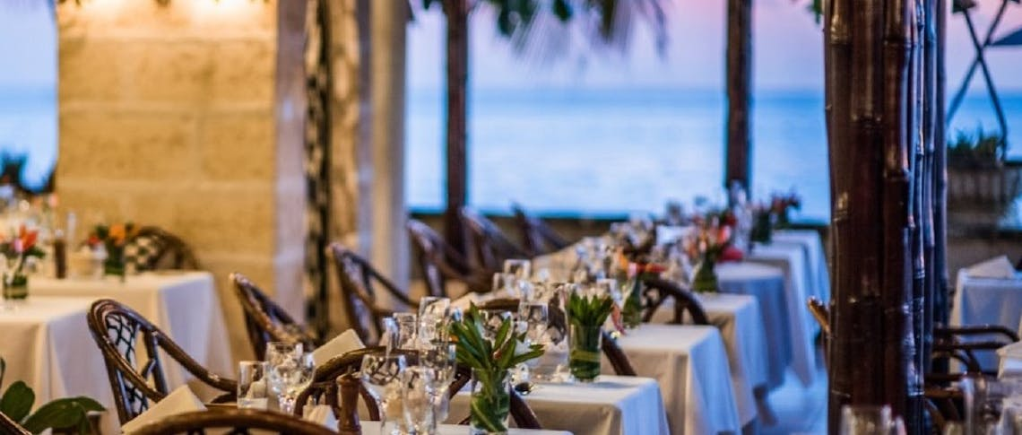 dining area at coral reef club barbados
