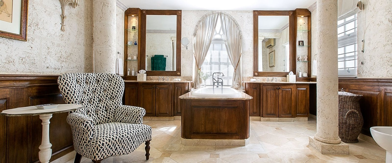 Luxury Plantation Suite Bathroom at Coral Reef Club, Barbados