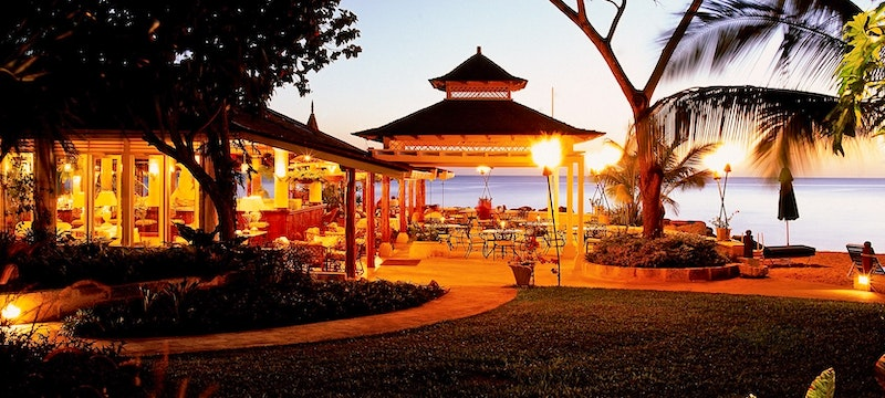 Elegant à La Carte restaurant with a daily changing menu at Coral Reef Club, Barbados
