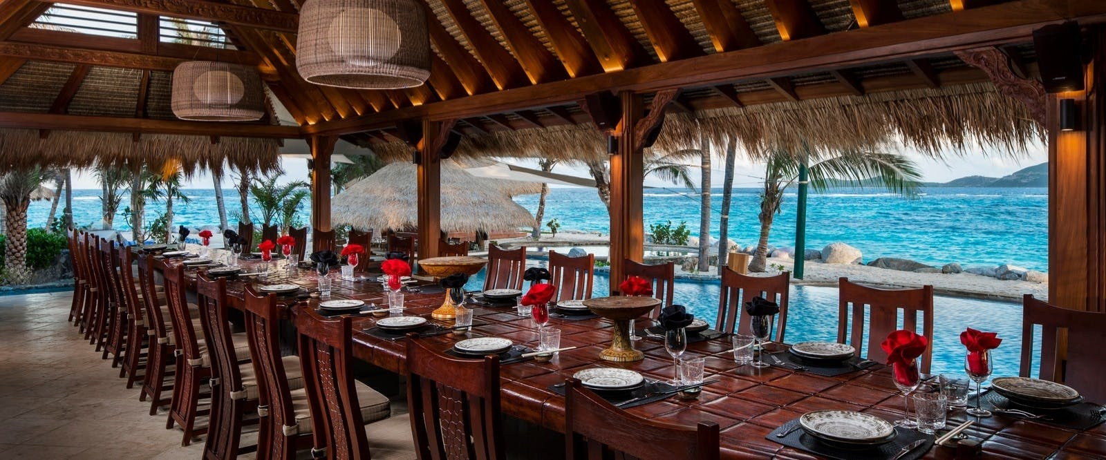 Crocodile Pavilion Dining at Necker Island, British Virgin Islands