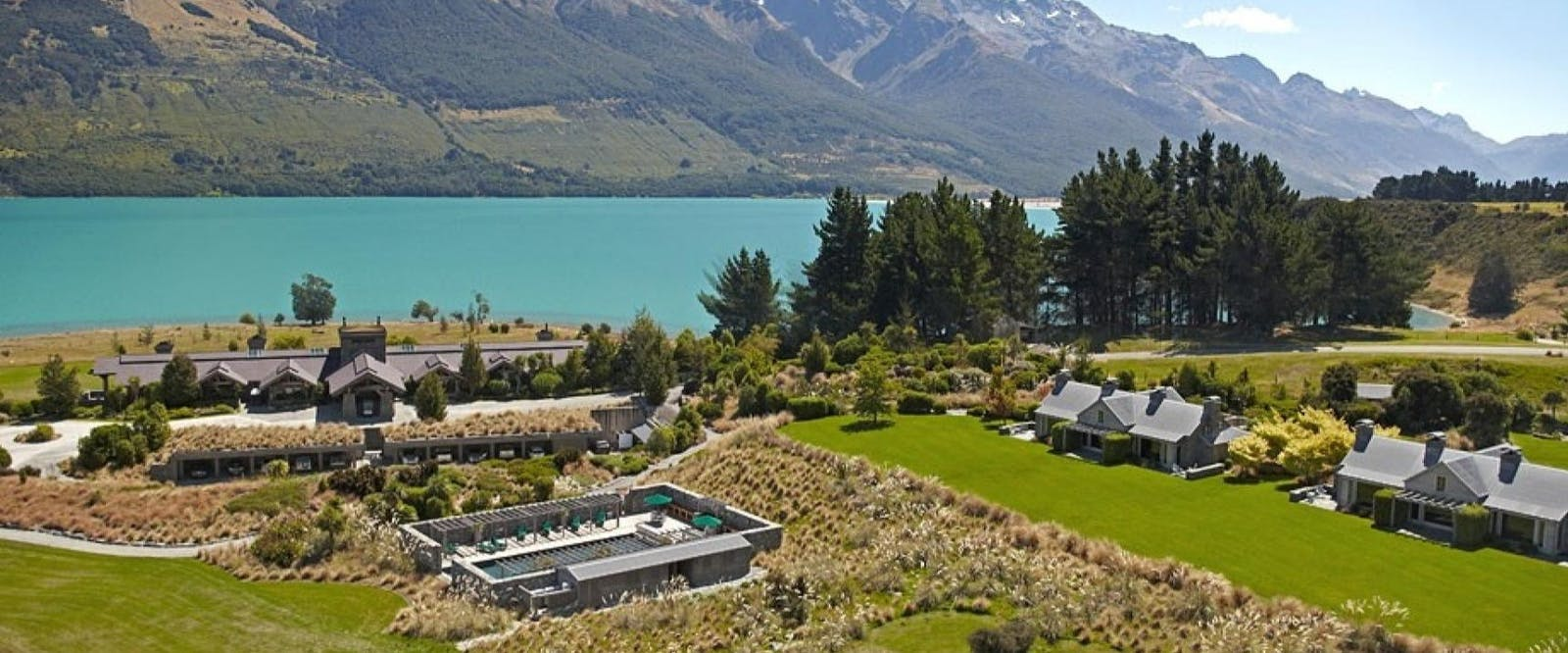 Aerial View of Blanket Bay, Glenorchy