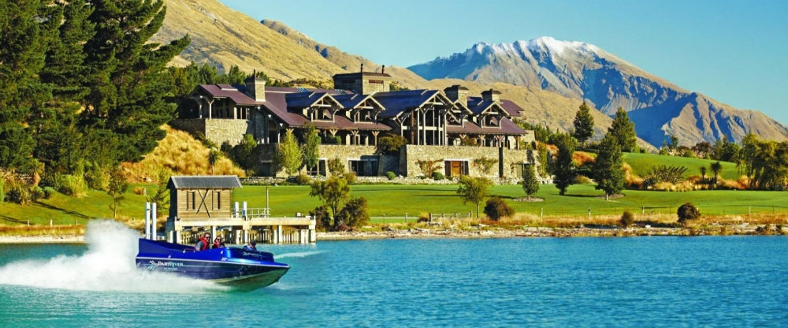 Jet Boating at Blanket Bay, Glenorchy