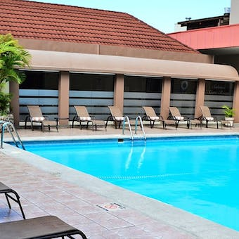 Pool area at Crowne Plaza Corobici Hotel