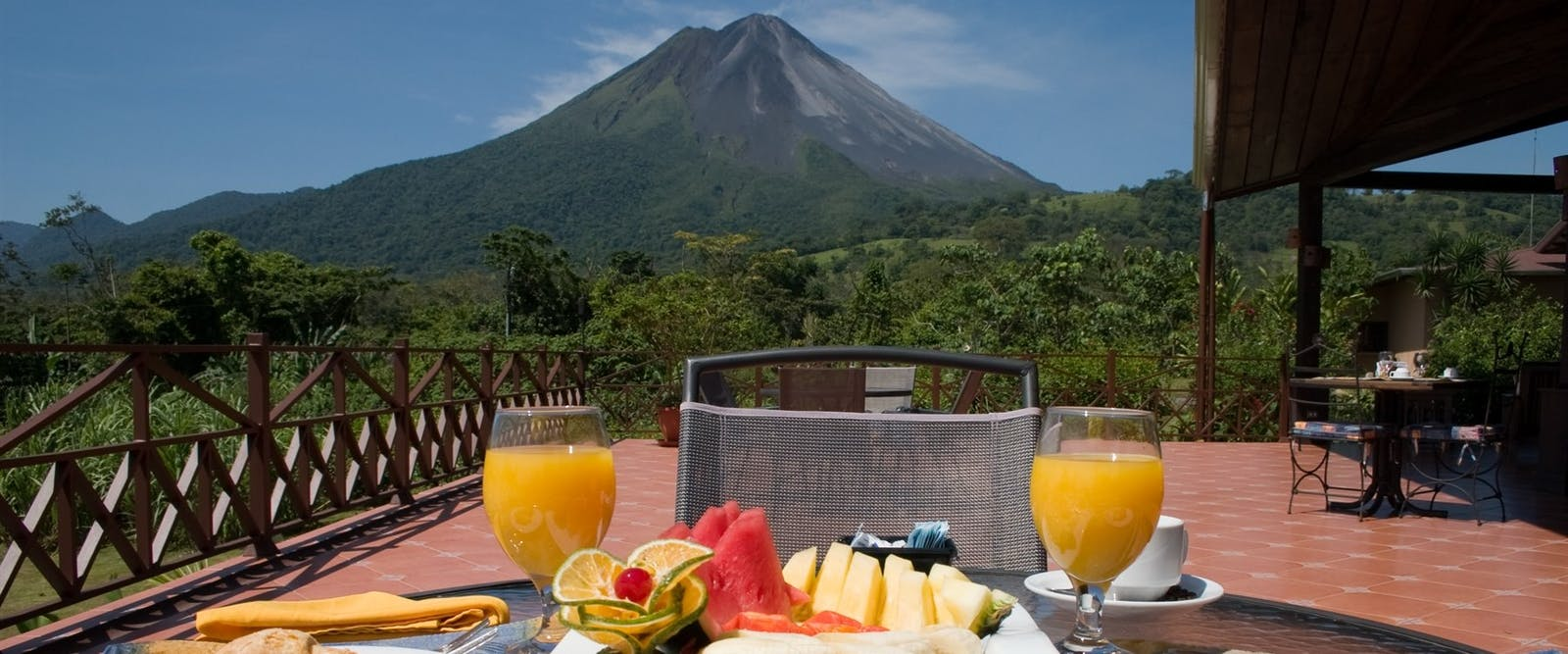 Breakfast with volcano view, Arenal Springs Resort