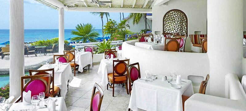 Fine dine at Reflections at Crystal Cove, Barbados