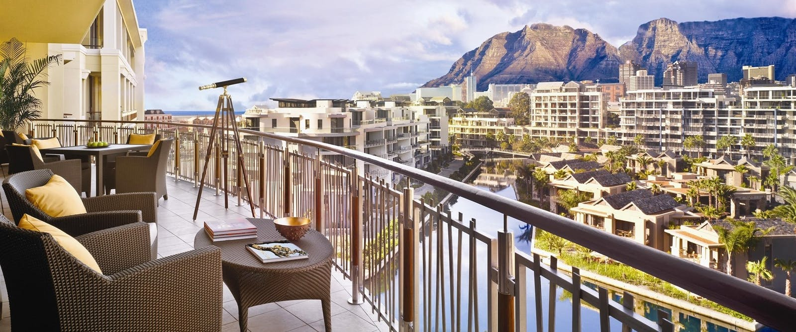 Table Mountain Suite Balcony View at One & Only Cape Town, South Africa