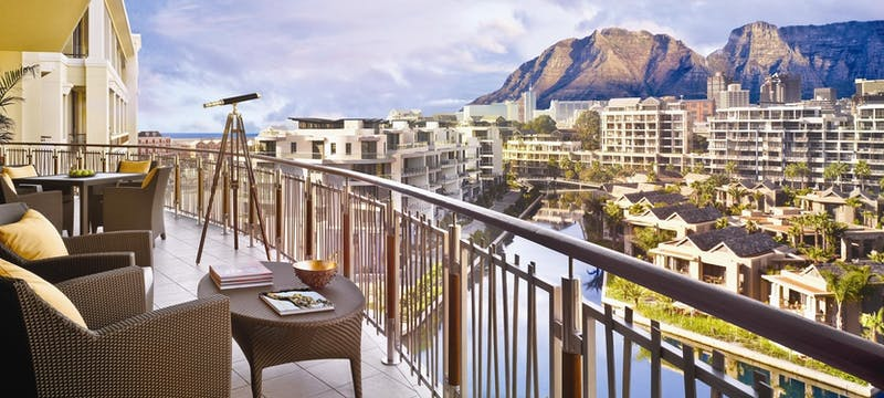 Balcony view at One & Only Cape Town