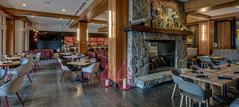 Restaurant interior at Nita Lake Lodge