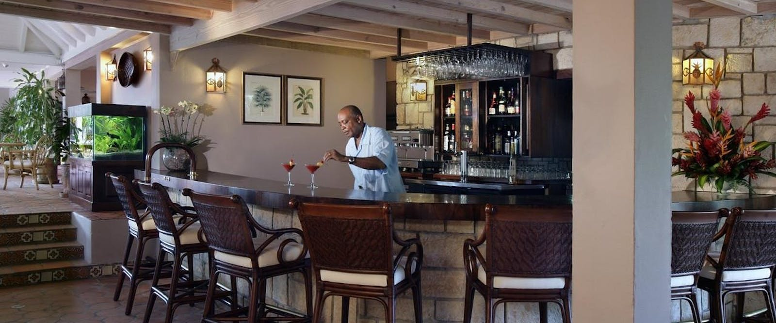 Bar Area at Curtain Bluff, Antigua