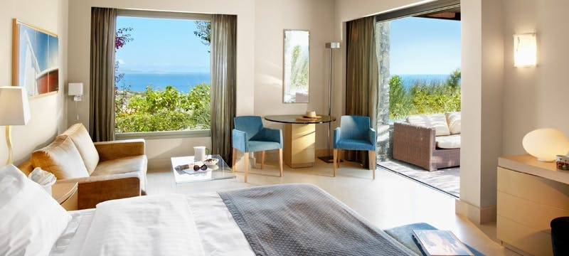 Spacious suites at Daios Cove, Crete, Greece