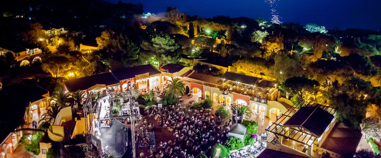 Entertainment at Piazza Luisa at Forte Village Resort, South Sardinia, Italy
