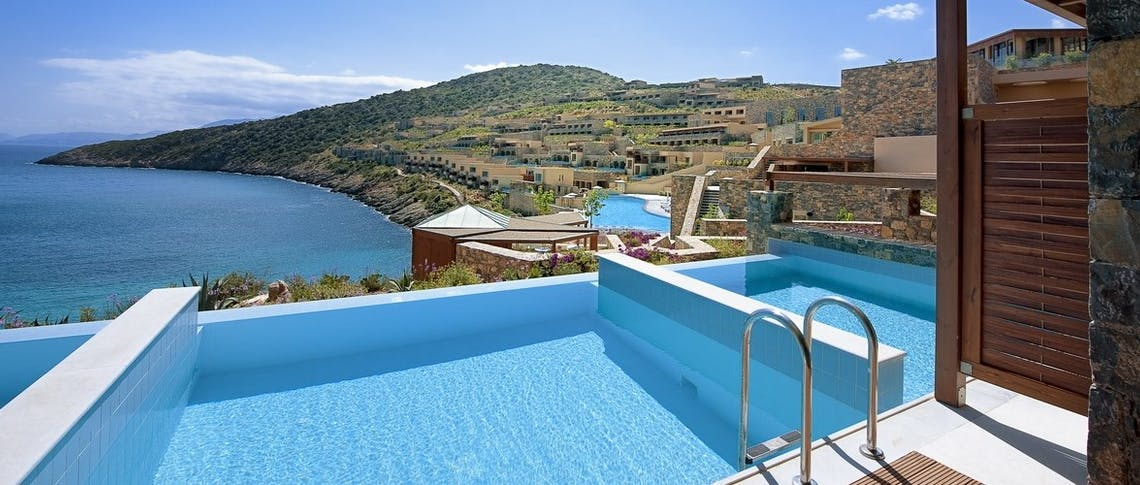 Deluxe Room with individual pool at Daios Cove, Crete, Greece