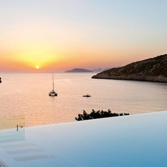 Sunset at Daios Cove, Crete, Greece