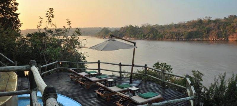 Deck area at Serena Mivumo River Lodge