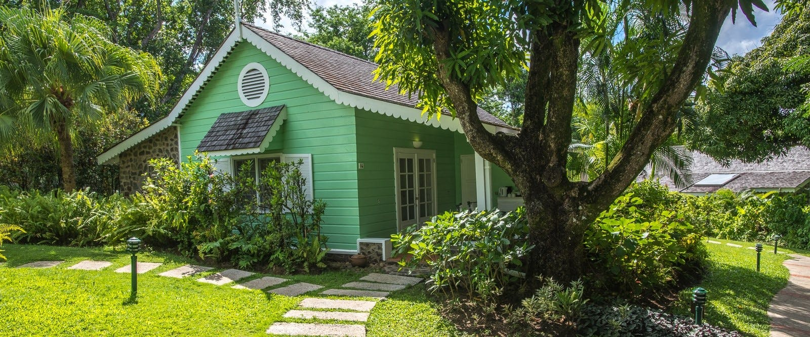 Deluxe cottage exterior at East Winds, St Lucia