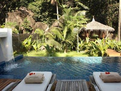 deluxe hillside pool villa