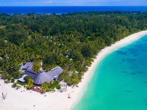 Aerial View of Denis Private Island, Seychelles