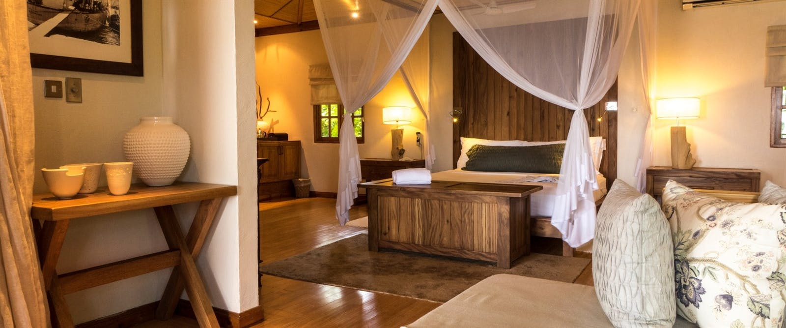 Beach Villa Bedroom at Denis Private Island, Seychelles