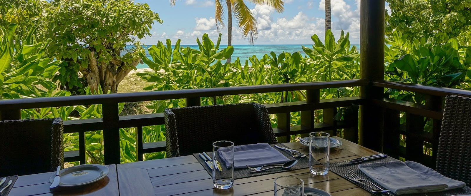 View from Restaurant at Denis Private Island, Seychelles