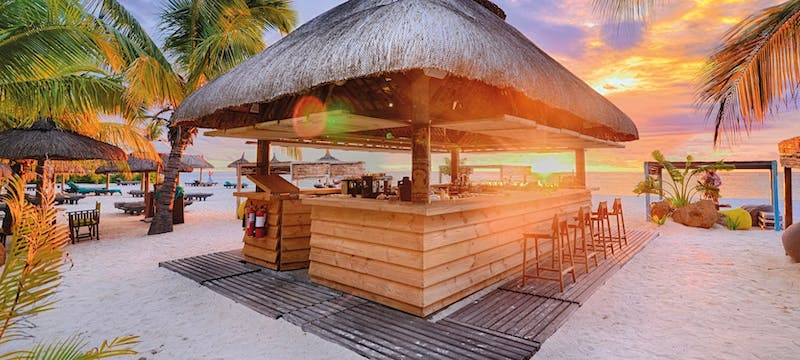 Beach bar at Dinarobin Beachcomber Golf Resort & Spa, Mauritius