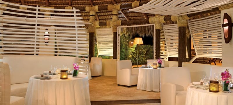 Enjoy european-inspired fusion cuisine from around the world at Olena restaurant at Zoetry Agua Punta Cana, Dominican Republic