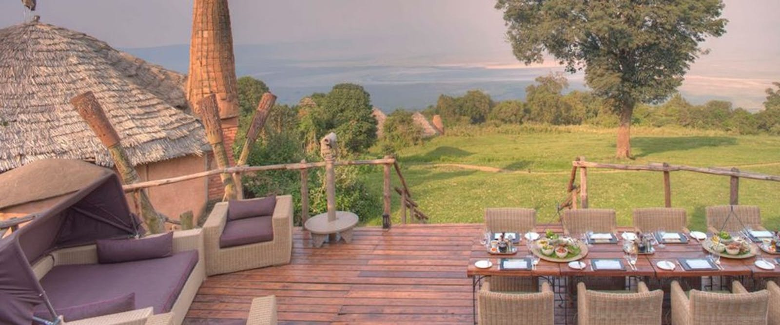 Dining at &Beyond Ngorongoro Crater Lodge