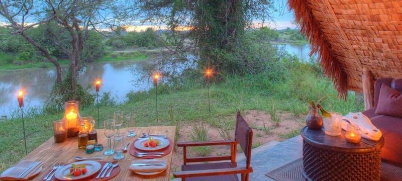 Beautiful outdoor dining at &Beyond Grumeti Serengeti Tented Camp