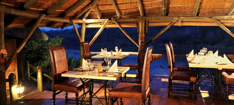 Dining area at Serena Mivumo River Lodge