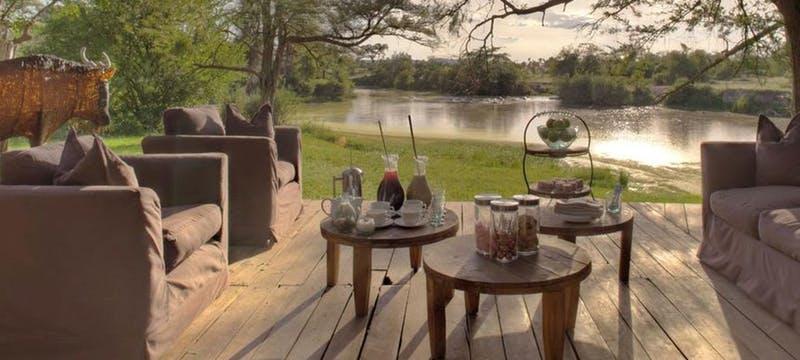 Exterior of &Beyond Grumeti Serengeti Tented Camp