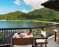Dining by the bay at Six Senses Ninh Van Bay, Vietnam