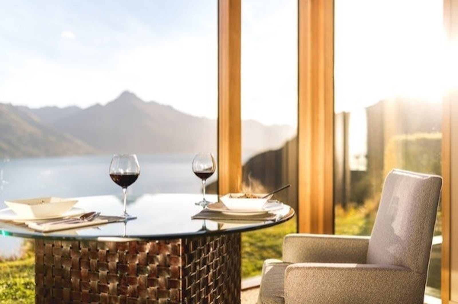 Dining Table restaurant at Azur Lodge, Queenstown, South Island, New Zealand