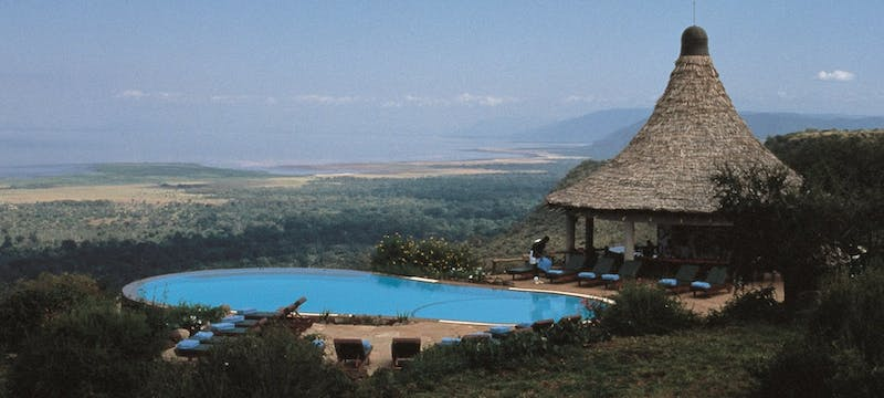 View into the distance at Lake Manyara Serena Safari Lodge