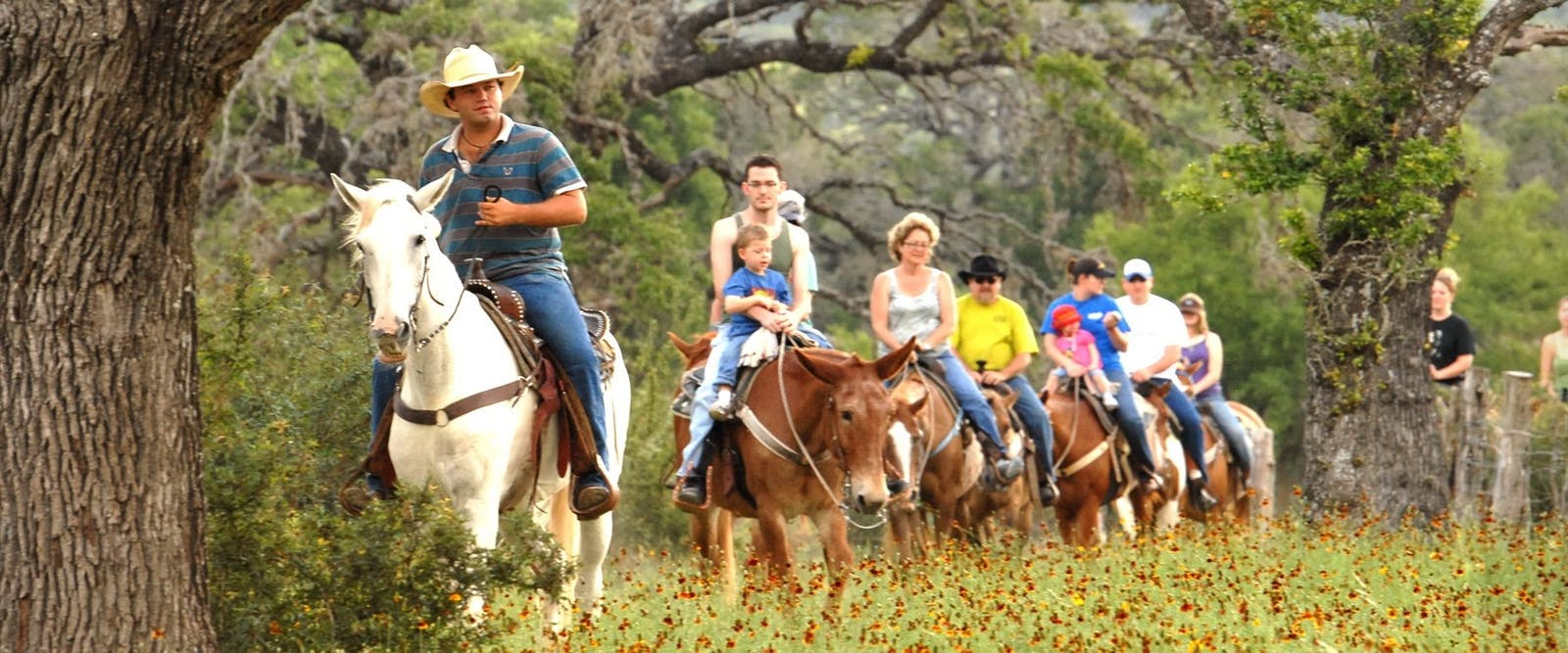 Group Riding At Dixie Dude Ranch