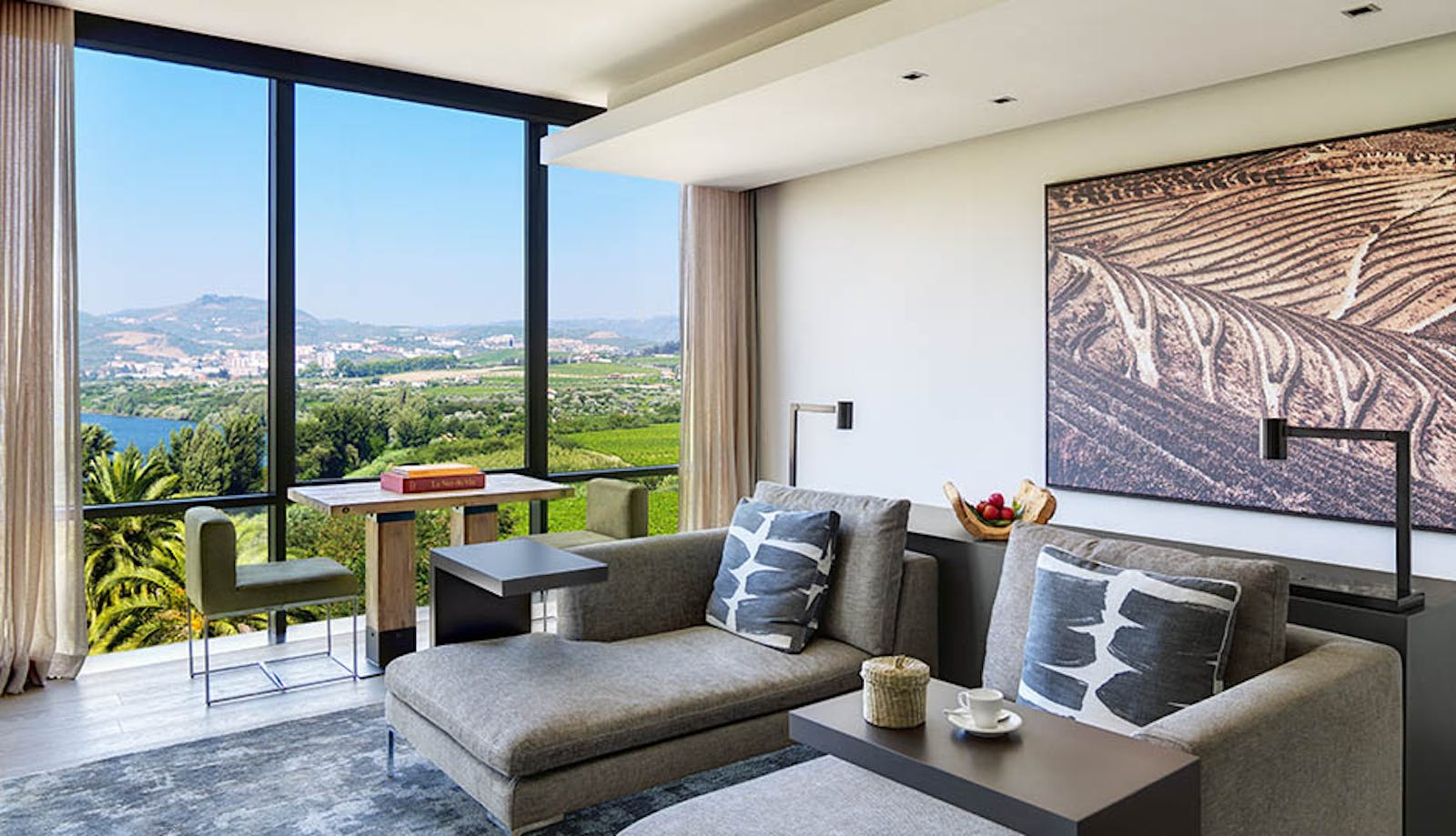Panorama Suite Living Room at Six Senses Douro Valley, Portugal