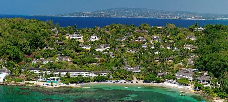 Aerial view of Round Hill Villas, Jamaica