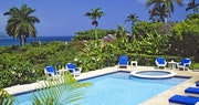 Pool area of Luxury Villa at Round Hill Villas, Jamaica
