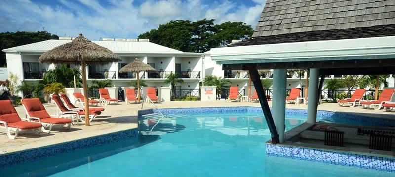 Pool area at Coyaba Beach Resort, Grenada