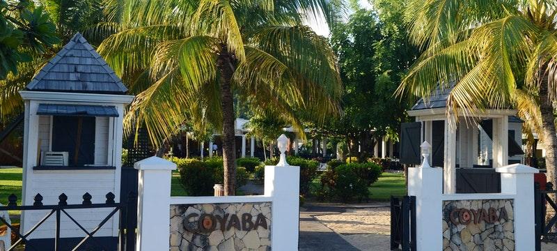 Beach front entrance to Coyaba Beach Resort, Grenada