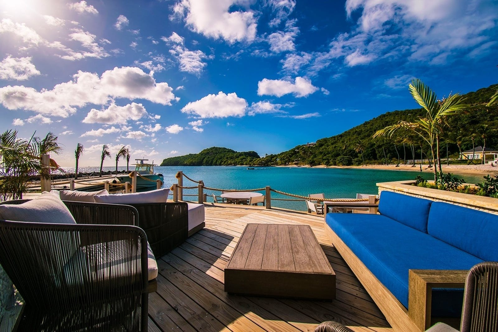 Decking View at The Liming, St Vincent & The Grenadines, Caribbean